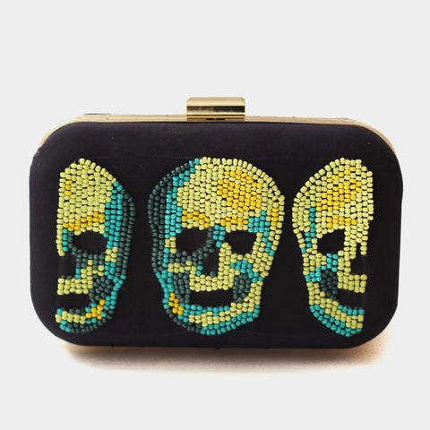 Pop Art Skull Clutch by ETRE