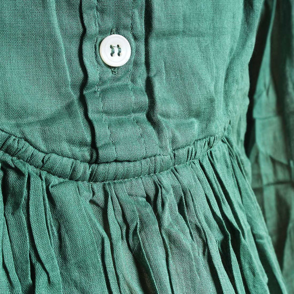 Green Mul Cotton London Blouse