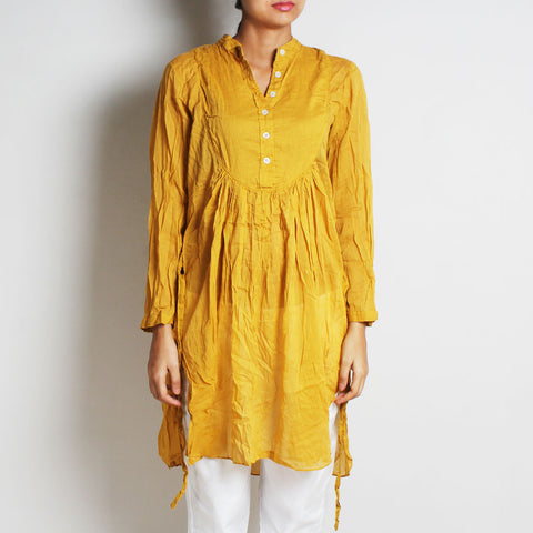 Gold Mul Cotton London Blouse by FLAME