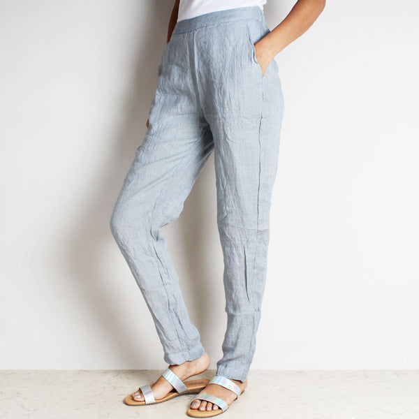 Gray Cotton Linen Lula Pants