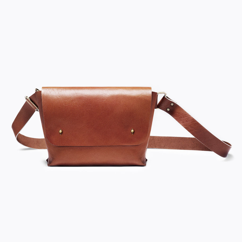 Tan Angoni Leather Sling Bag by Grain