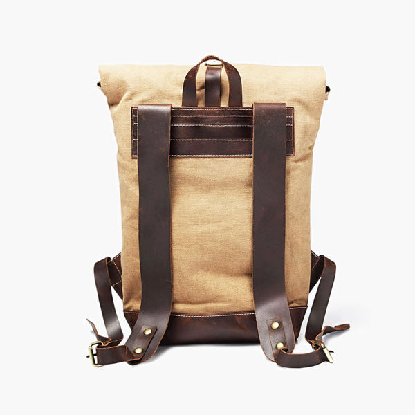 Travel Backpack in Ochre & Brown