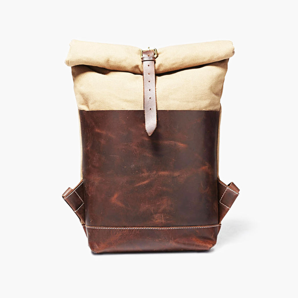Travel Backpack in Ochre & Brown by Grain
