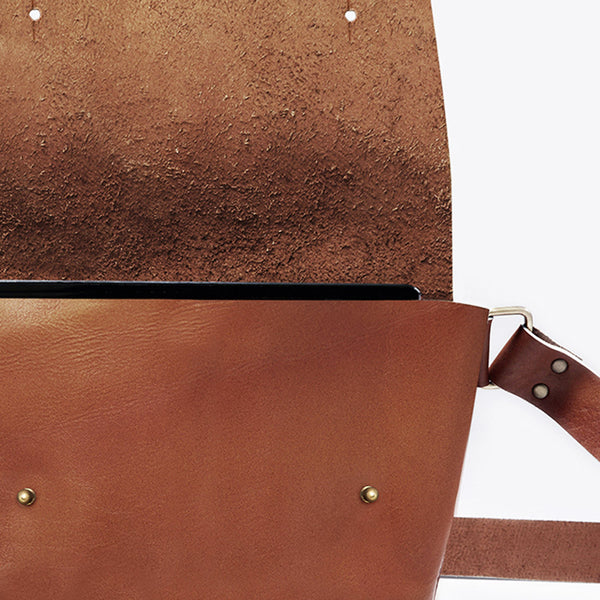 Tan Angoni Leather Sling Bag