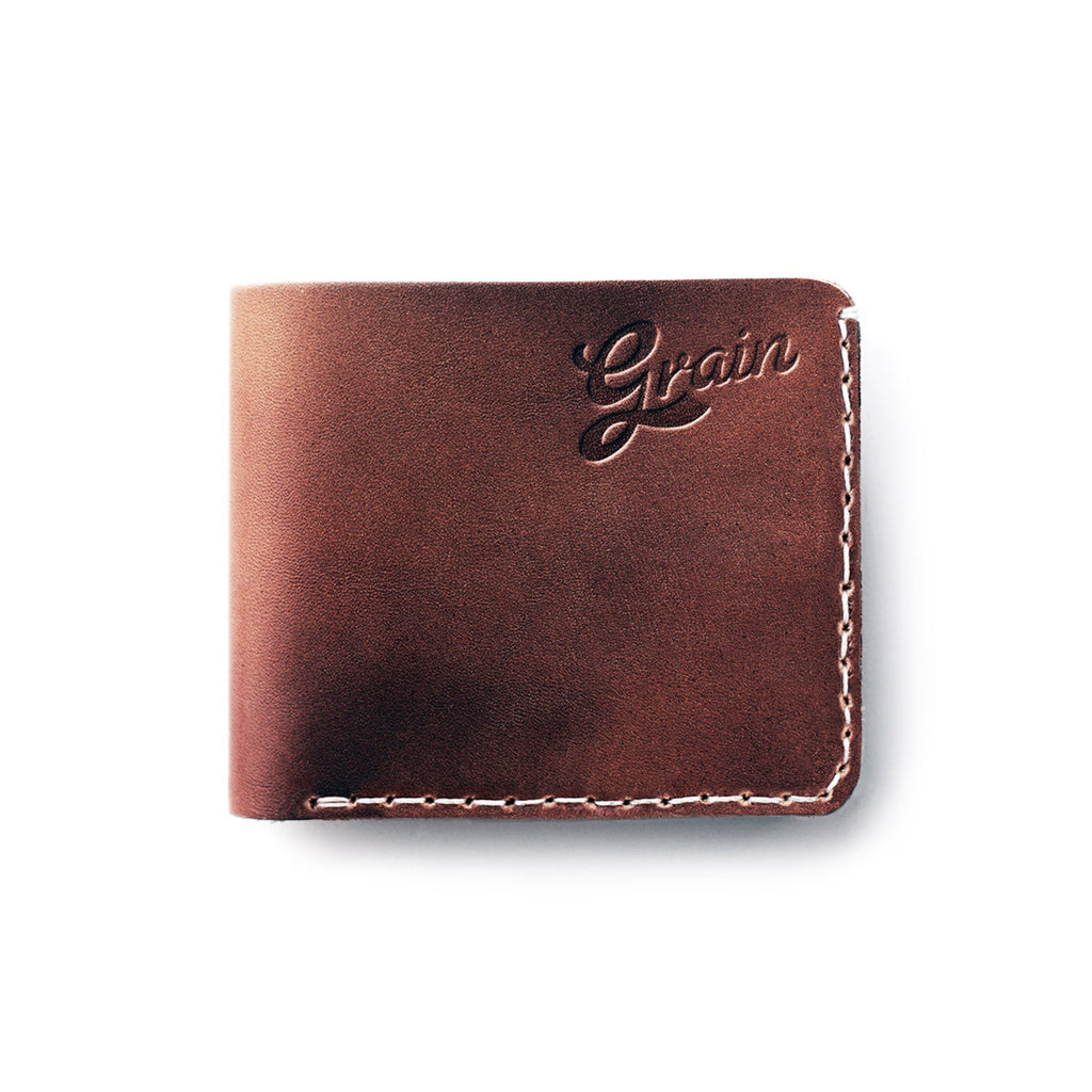 Brown Braford Wallet in Leather by Grain