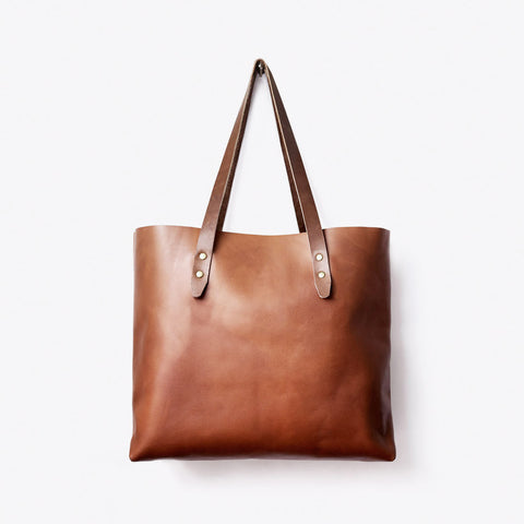Classic Tan Tote Bag in Leather by Grain