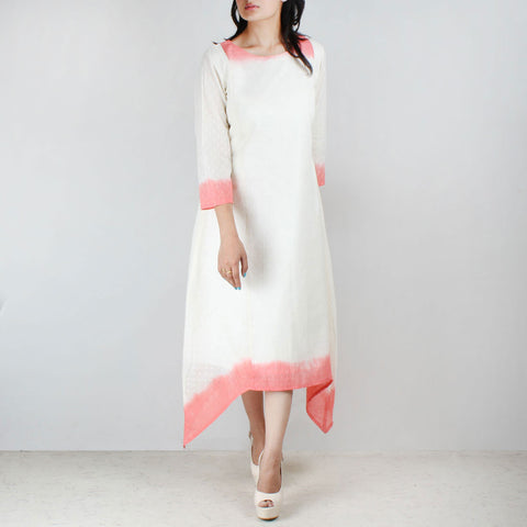 Off white pink deep dyed tunic by NOYA