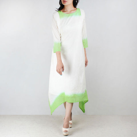 Off white green deep dyed tunic by NOYA