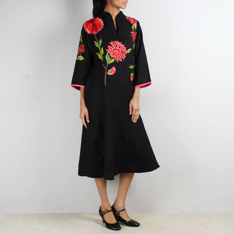 Bold Floral Embroidered Tunic by Kaveri / K Clothing