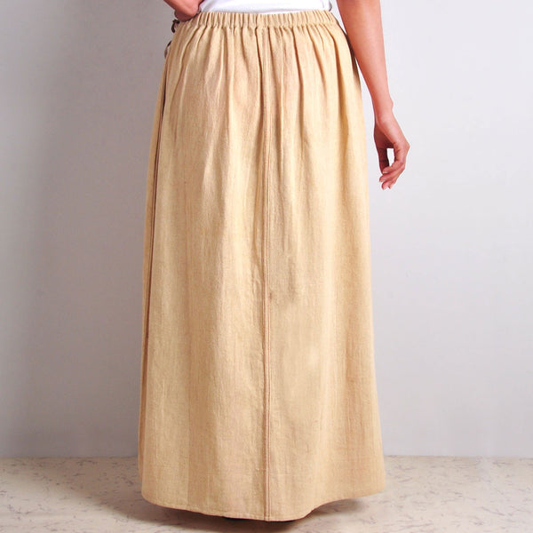 Colour-Blocked Beige Skirt