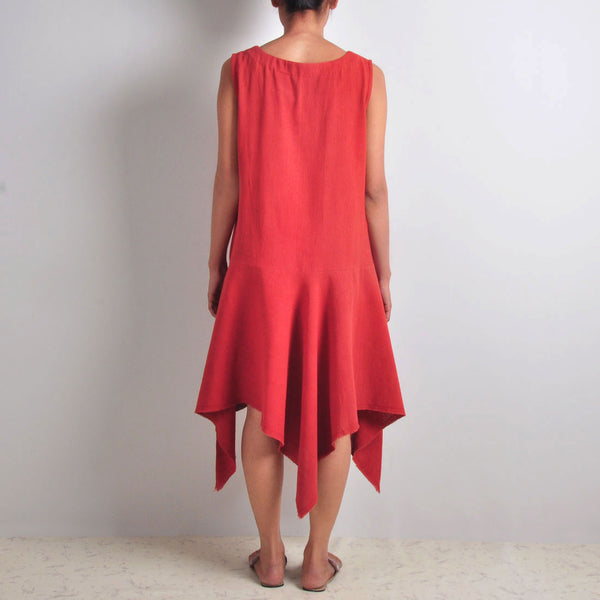 Red Casual Pixie Dress