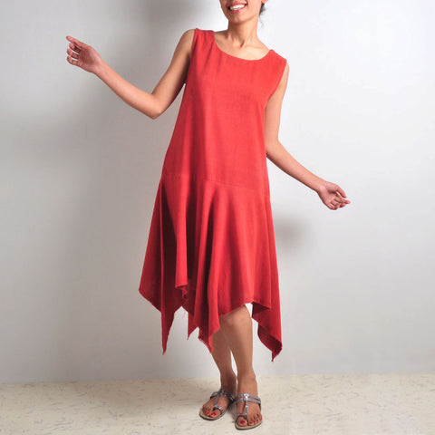 Red Casual Pixie Dress by JAYATI GOENKA