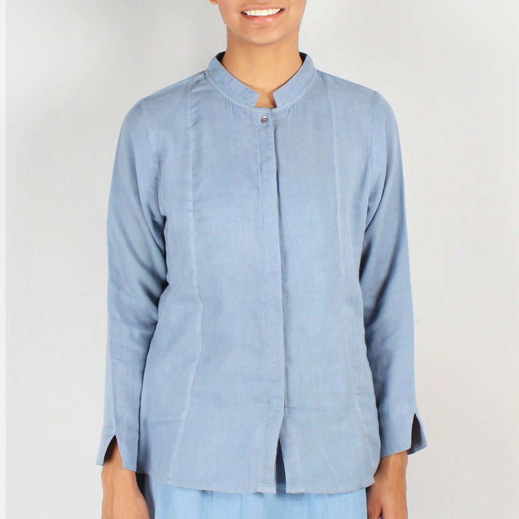 Aurora Double Mulmul shirt by JAYATI GOENKA