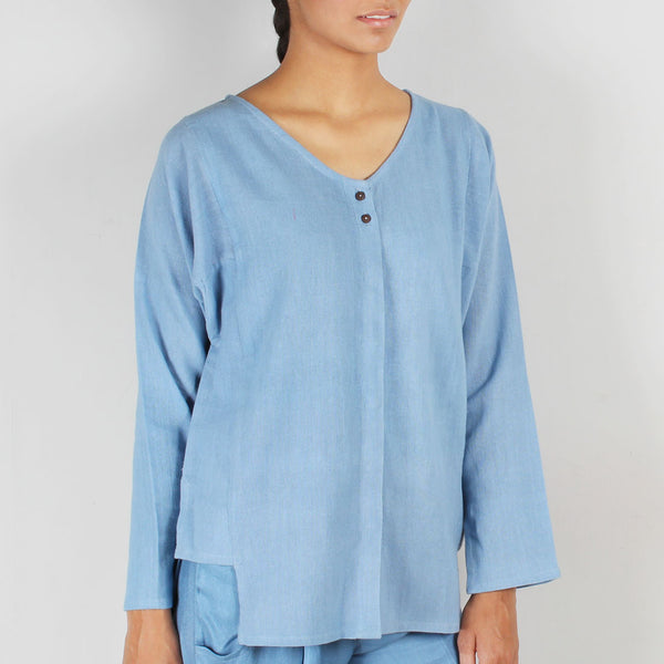 Socket Cotton Khadi Top