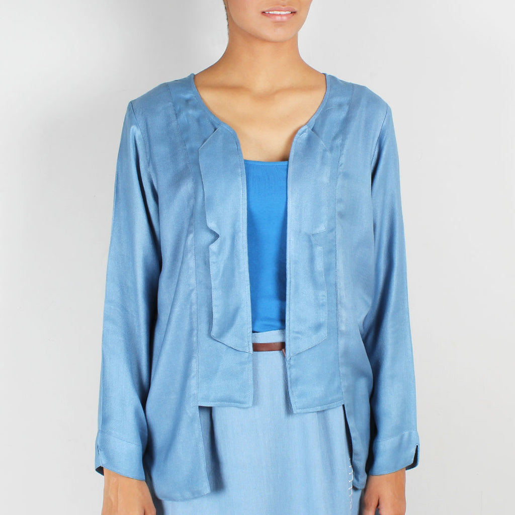 Rogue Angular Rayon Jacket by JAYATI GOENKA
