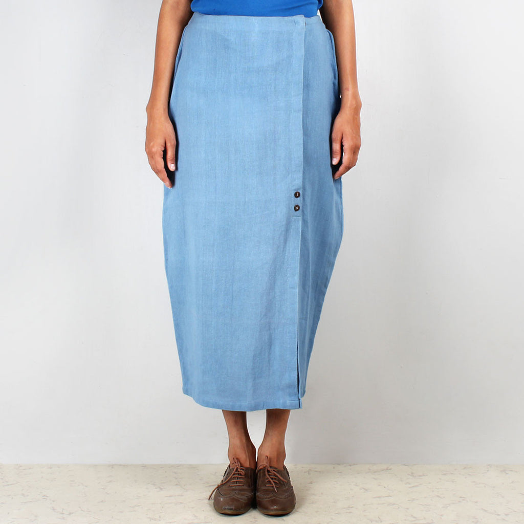 Cocoon Cotton Khadi Skirt by JAYATI GOENKA