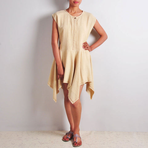 Khadi Knee-Length Dress by JAYATI GOENKA