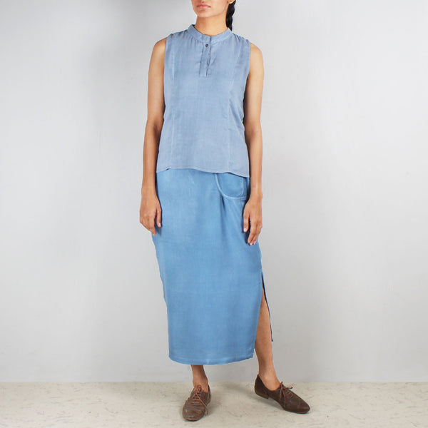 A Set Of Indiana Khadi Wrap Cig Skirt & Mystique Vest