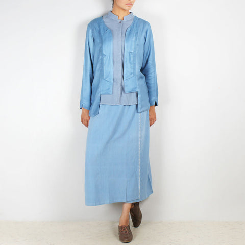A Set Rogue Jacket Aurora Shirt & Moor Skirt by JAYATI GOENKA
