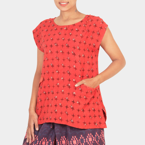 Orange Short Top by JAYATI GOENKA