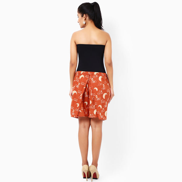 Tangerine Cotton Hakama Shorts