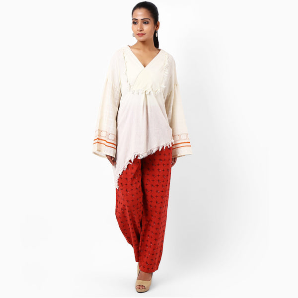 Off White Cotton Top  by JAYATI GOENKA
