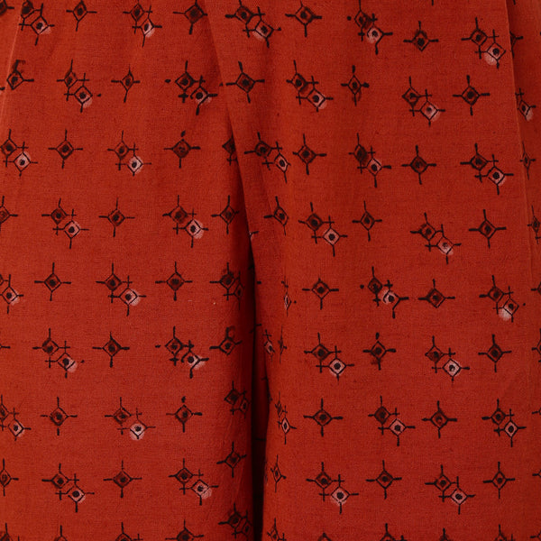 Orange Cotton Trousers