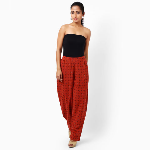 Orange Cotton Trousers by JAYATI GOENKA