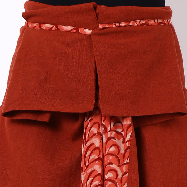 Red Cotton Hakama Trousers