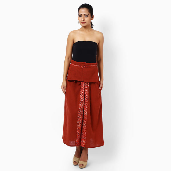 Red Cotton Hakama Trousers  by JAYATI GOENKA