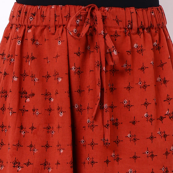Red Cotton Trousers