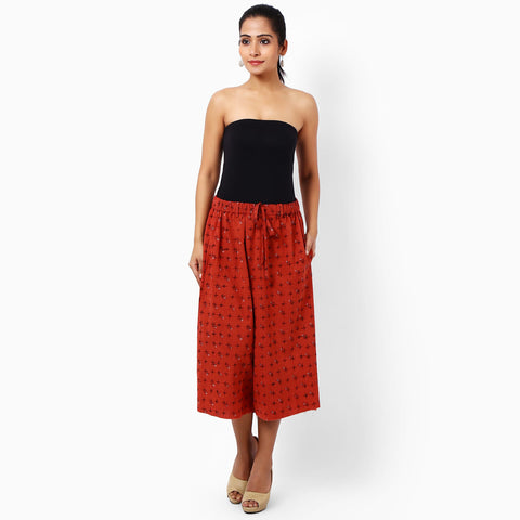 Red Cotton Trousers by JAYATI GOENKA