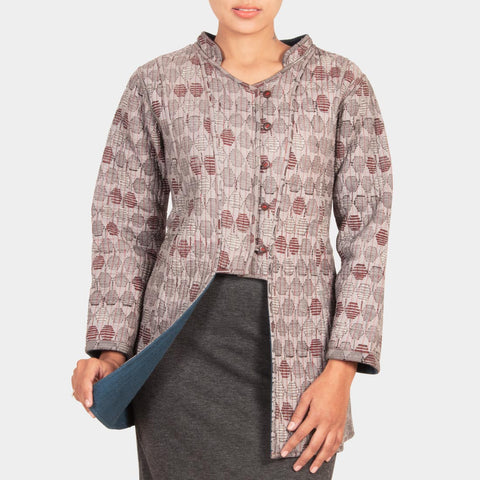 Reversible Quilted Jacket by JAYATI GOENKA