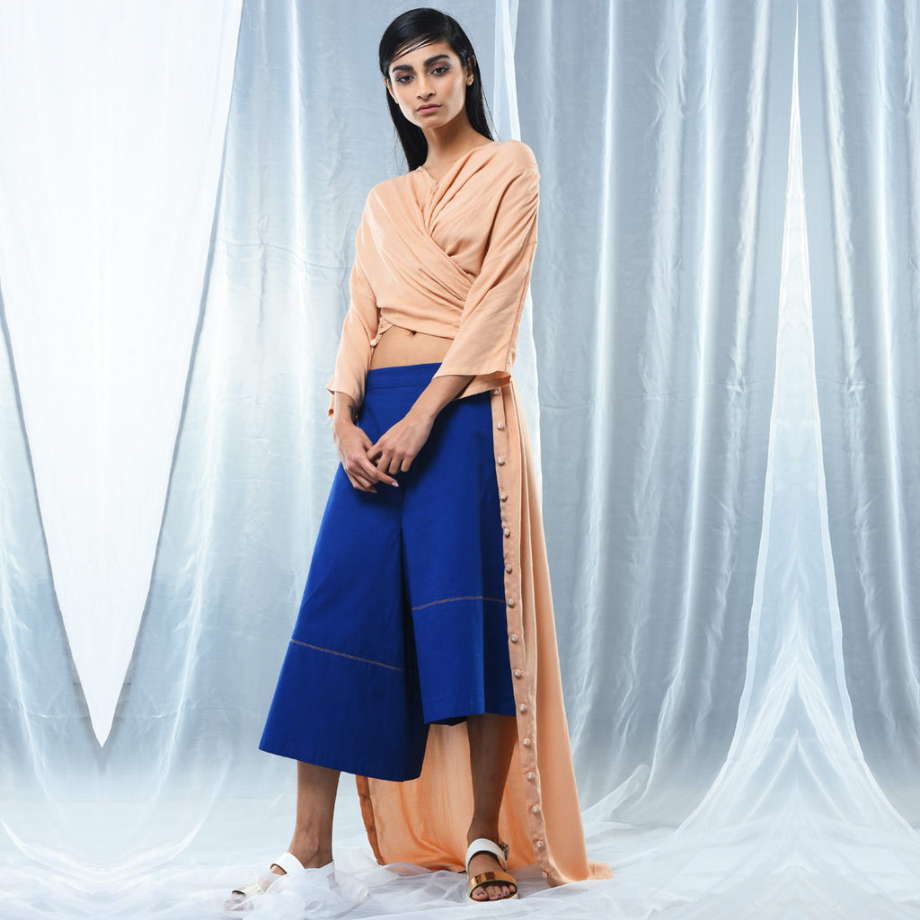 Peach Oversized Shirt Dress by Kanelle by Kanika Jain