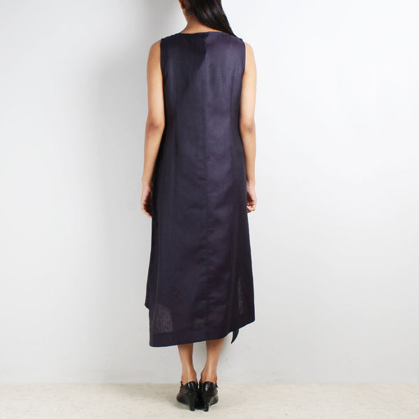 Purple Sleeveless Asymmetric Dress