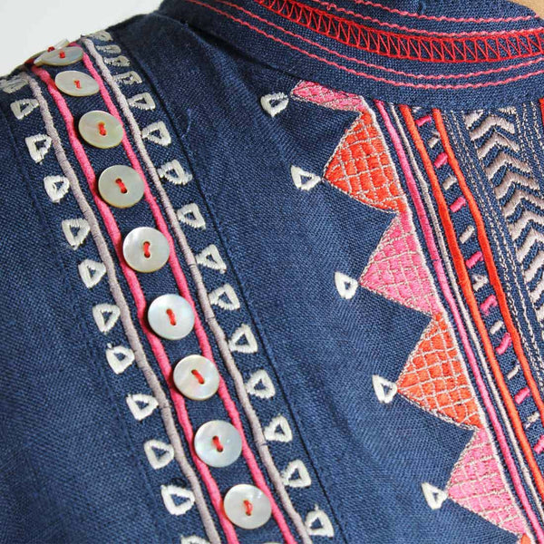 Royal Tribal Embroidered Tunic