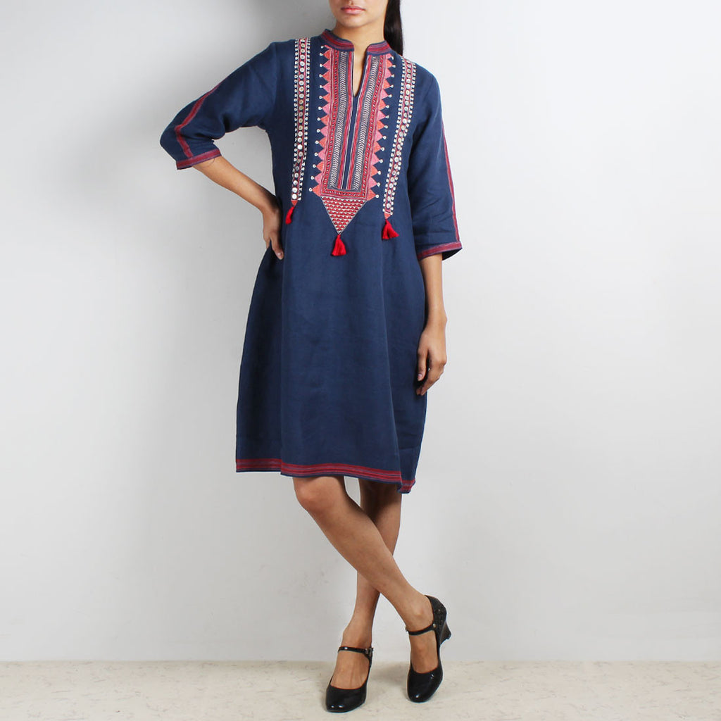 Royal Tribal Embroidered Tunic by Kaveri / K Clothing