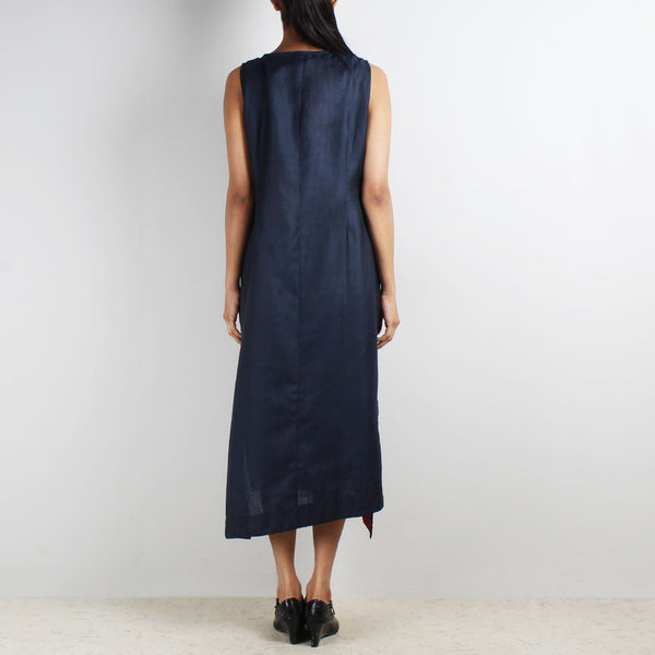 Royal Blue Sleeveless Asymmetric Dress