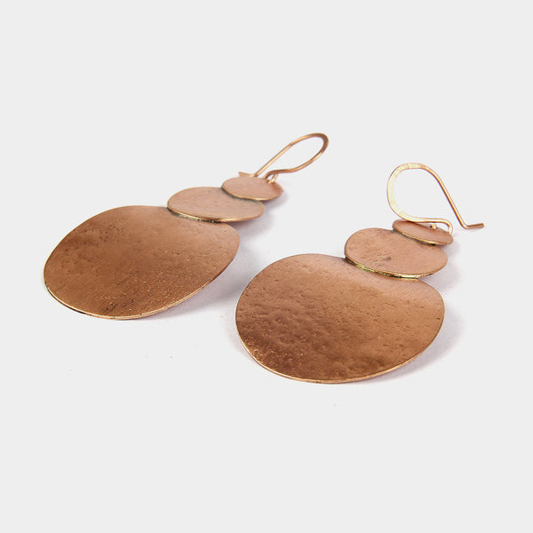 Handcrafted Copper Circles Earrings