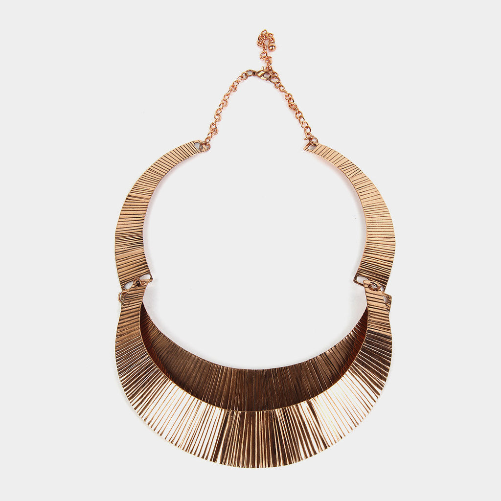Handcrafted Double Circle Copper Necklace by Kalpaveda
