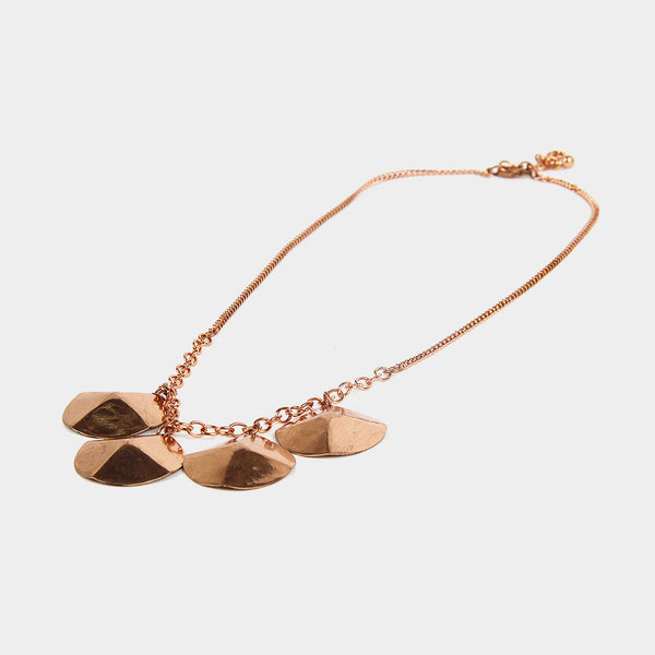 Handcrafted Four Circular Copper Necklace