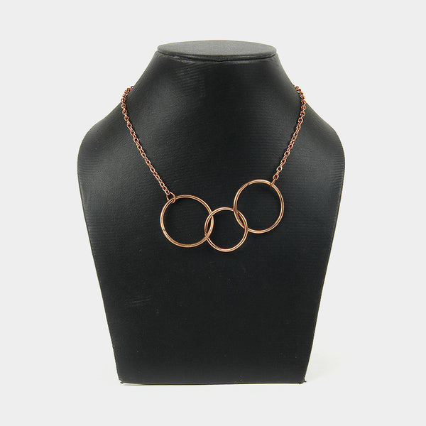Handcrafted Three Circular Copper Necklace
