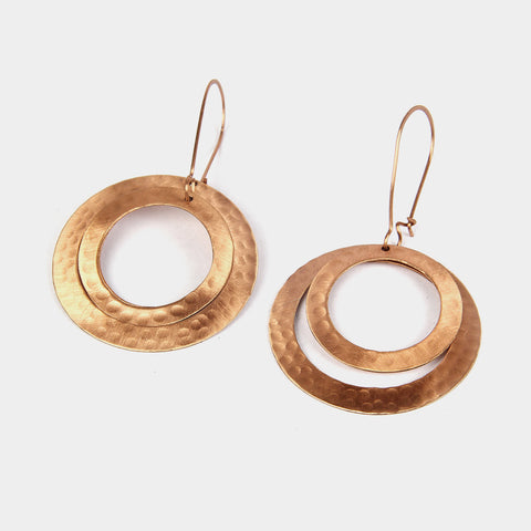 Handcrafted Copper Hoop Earrings by KALPAVEDA