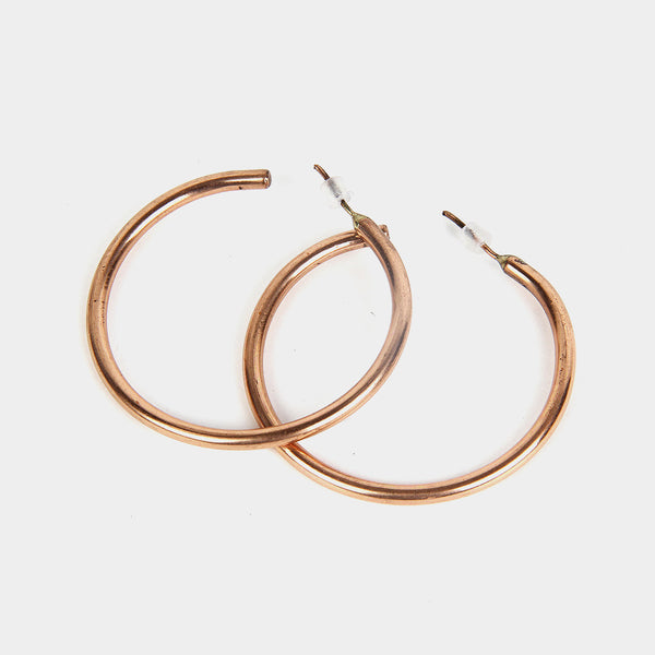 Handcrafted Circular Copper Earrings