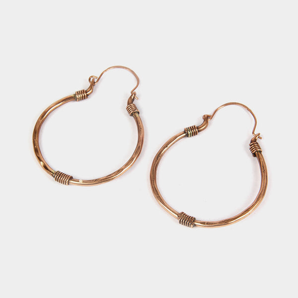 Handcrafted Spring Copper Earrings