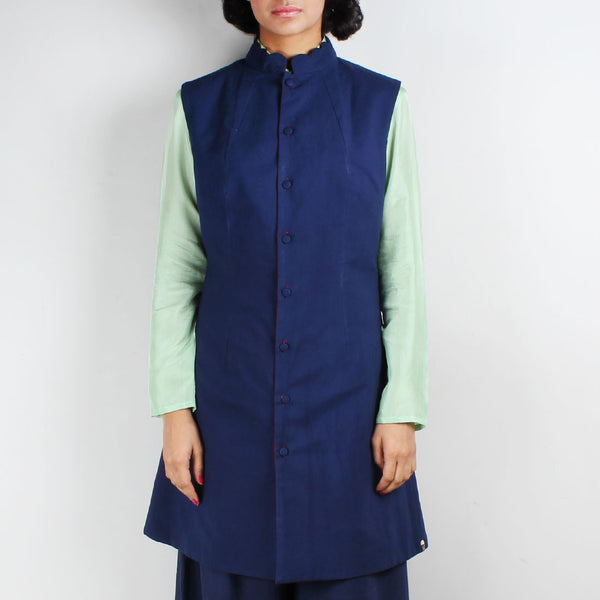 Set Of Nehru Reversible Jacket & Palazzo Pants