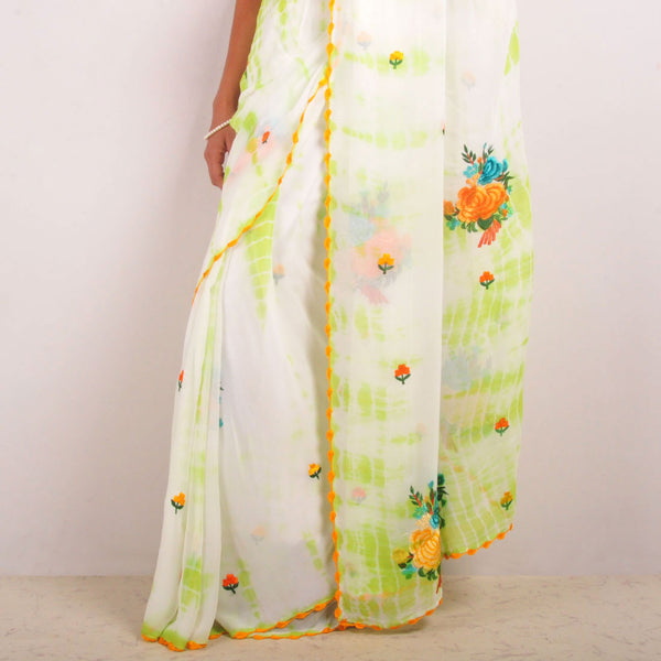 Georgette Embroidered Sari