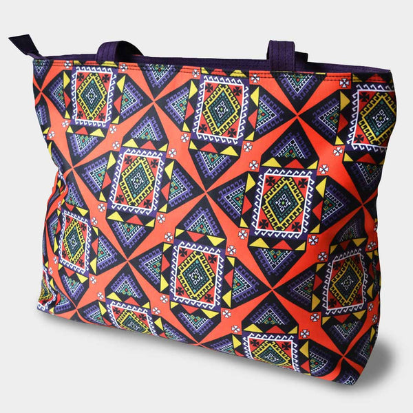 Geometric Patterned Bag by Noorani Biswas