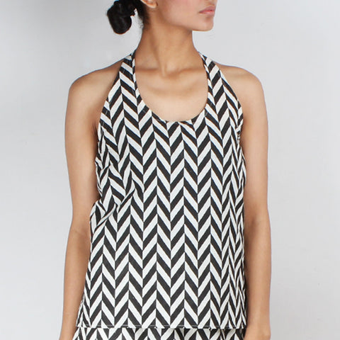 Chevron Halter Top by NAKITA SINGH