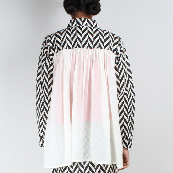 Chevron Gathered Shirt